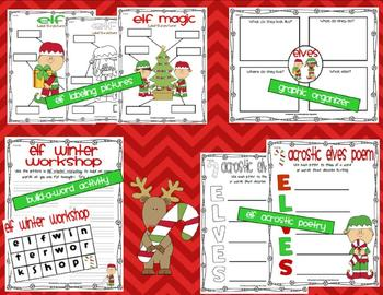 Christmas Mischief: Common Core Math and Literacy Activities with Elves