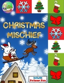 Christmas Mischief Sight Word Center (Primer)