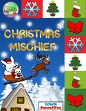 Christmas Mischief Sight Word Center (Second)