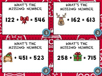 Christmas Missing Addends