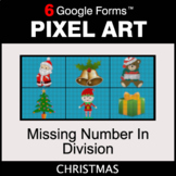 Christmas: Missing Number in Division - Pixel Art Math | G