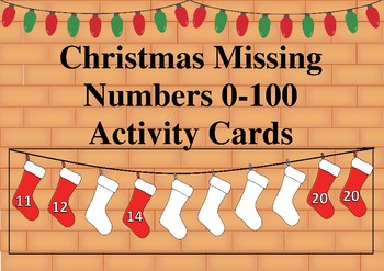 Christmas Missing Numbers 0-100 Activity Cards