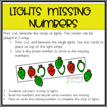 Christmas Missing Numbers