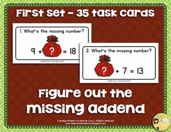 Christmas Missing Numbers Task Cards