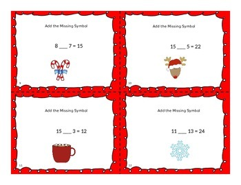 Christmas Missing Symbol Task Cards