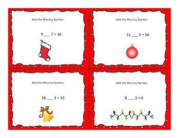 Christmas Missing Symbol Task Cards