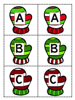 Christmas Letter Matching