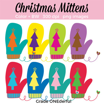 Christmas Mittens Clipart