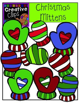 Christmas Clipart Mittens {Creative Clips Clipart}