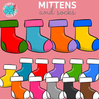 Rainbow colors Mittens and socks {Winter}