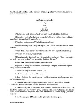 Christmas Passage: Test Prep