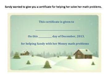 Christmas Money Math Word Problems by Linda Boyd