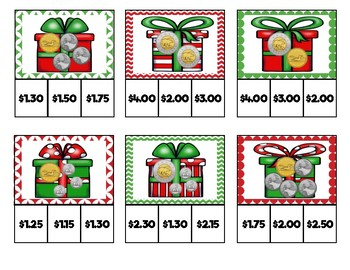 Christmas Money Presents Clip Cards