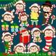 Christmas Monkeys 2 Clipart Set