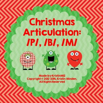 Christmas Monster Articulation-/P,B,M/