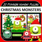 Christmas Monster Number Puzzles 20 Christmas Number Puzzles