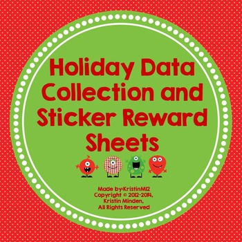 Holiday Data Collection and Sticker Reward Sheets