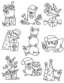 Christmas Monsters Clipart