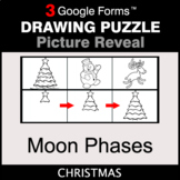 Christmas: Moon Phases - Drawing Puzzle   Google Forms
