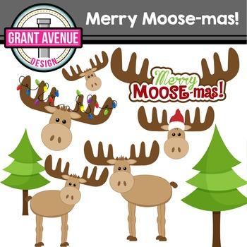 Christmas Moose Clipart