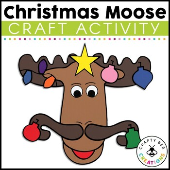 Christmas Moose Cut and Paste