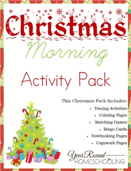 Christmas Morning Activity Pack for Kids