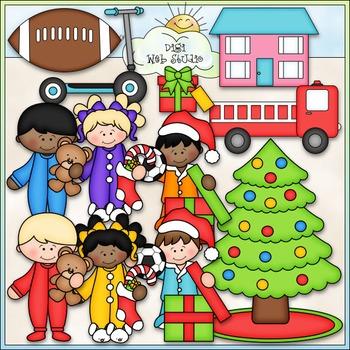 Christmas Morning Clip Art - Christmas Clip Art - CU Clip