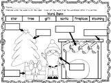 Christmas Morning Labeling Worksheet