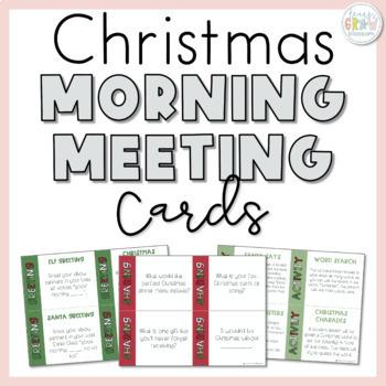 Christmas Morning Meeting Cards
