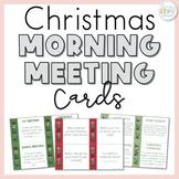 Christmas Morning Meeting Cards   Christmas Greetings, Sharing & Activities