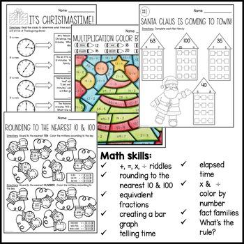 Christmas Math Packet