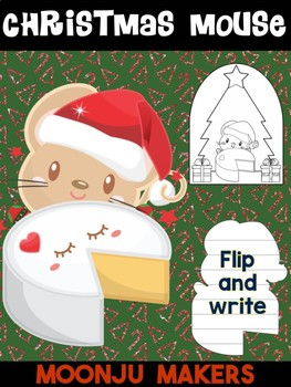 Christmas Mouse A - Moonju Makers for Activities, Crafts, Writing, and Decor