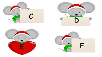 Christmas Mouse ABC Write-The-Room!