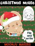 Christmas Mouse D - Moonju Makers for Activities, Crafts, Writing, and Decor