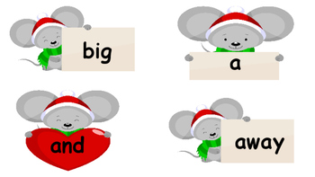 Christmas Mouse Dolch Sight Word Write-The-Room Pre-primer-3rd