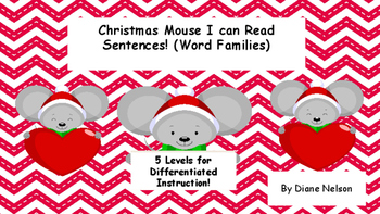 Christmas Mouse I Can Read Word Family Sentences!