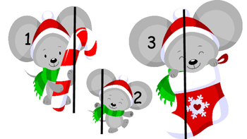 Christmas Mouse Measure it! Write-The-Room