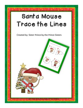 Christmas Mouse Trace the Lines