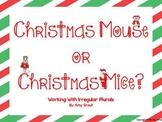 Christmas Mouse or Christmas Mice? An Irregular Plurals Game