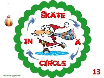 """PE Activities: """"What's on Your Plate""""- Christmas Fitness Edition"""