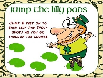 "St. Patrick's Day PE Stations- 20 ""Luck of the Irish"" Activity Cards"