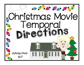 Christmas Movie Temporal Directions Cards & Worksheets