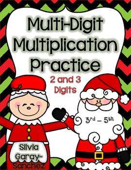 Christmas Multi-Digit Multiplication Practice
