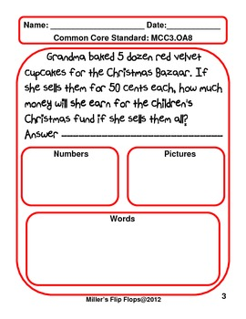 christmas multi step word problems 3 oa 8 cc 3rd grade math tpt. Black Bedroom Furniture Sets. Home Design Ideas