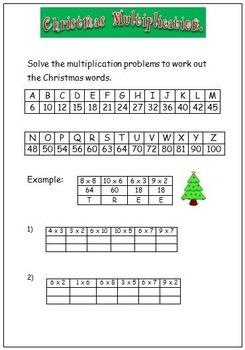Christmas Multiplication.