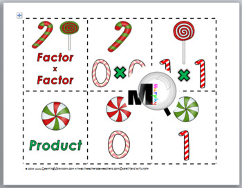 Multiplication Facts with Doubles - Christmas Math Activity -Multiplication Game