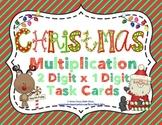 Christmas Multiplication (2 Digit x 1 Digit) Task Cards