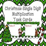 3rd Grade Christmas Math Station Activity Single Digit Multiplication Task Cards