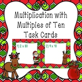 3rd Grade Christmas Math Task Cards Multiplication by Multiples of 10 3.NBT.3