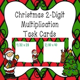 2 Digit by 2 Digit Multiplication Task Cards 4th Grade Christmas Activity